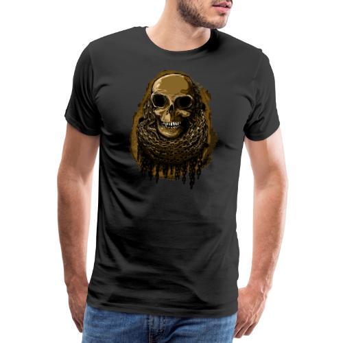 Skull in Chains YeOllo - Men's Premium T-Shirt