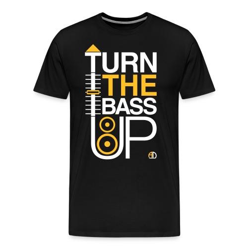 TURN THE BASS UP - Speaker and Music - Men's Premium T-Shirt
