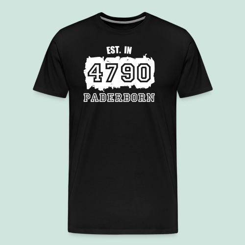 4790 Paderborn - Established - Männer Premium T-Shirt