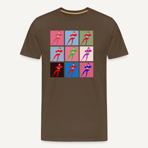 Stańczyk Warhol bez tla - Koszulka męska Premium