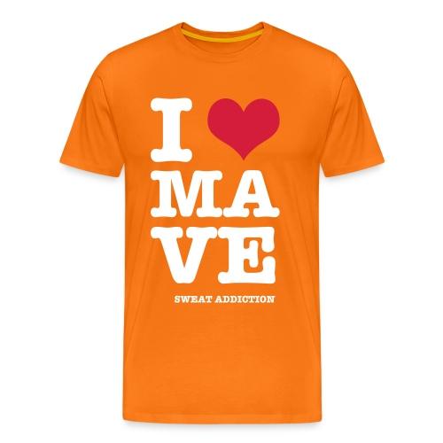 I Love Mave - Miesten premium t-paita
