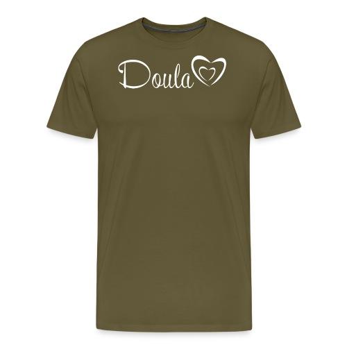 doula sydämet valkoinen - Miesten premium t-paita