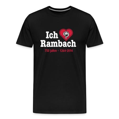logo shirt schwarz hoch 25cm ok - Männer Premium T-Shirt