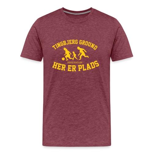 Tingbjerg Ground - her er plads - Herre premium T-shirt