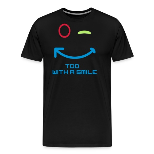 TDD met een glimlach - Mannen Premium T-shirt