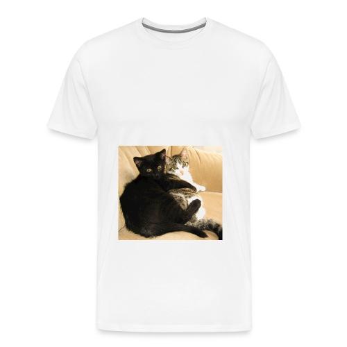 Basty und Franky als Baby jpg - Männer Premium T-Shirt