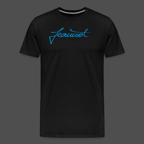 Jeannot Logo blau 100_75 - Männer Premium T-Shirt