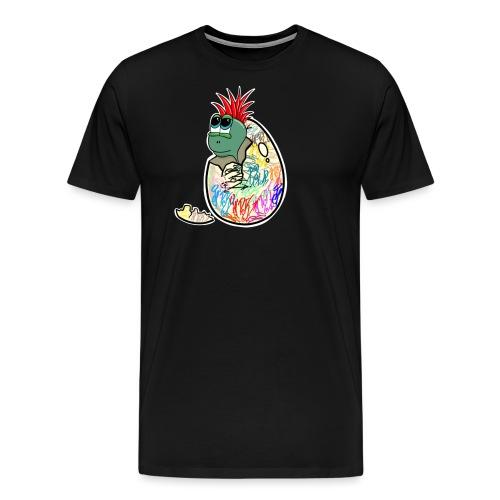 Punk Graffiti Bebe Schildkröte / Baby Dino Turtle - Männer Premium T-Shirt