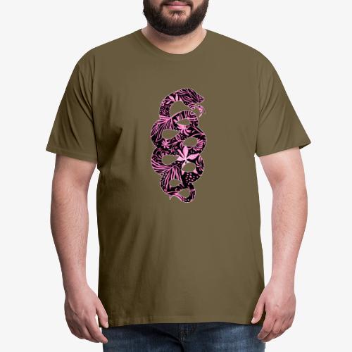 Flower Snake IV - Miesten premium t-paita