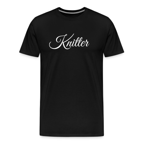 Knitter, white - Men's Premium T-Shirt