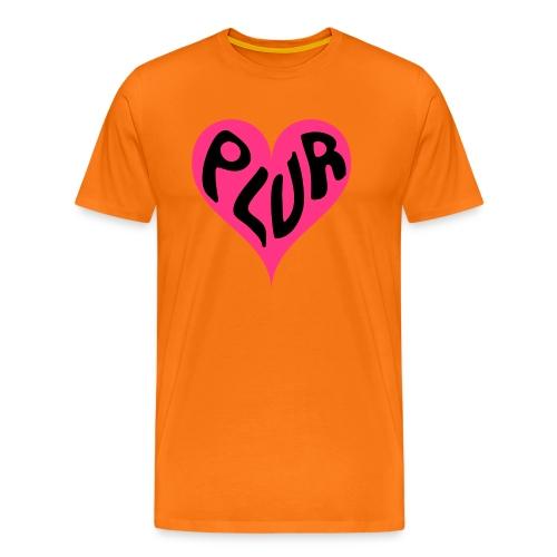 PLUR - Peace Love Unity and Respect love heart - Men's Premium T-Shirt