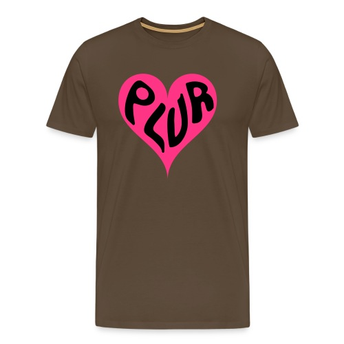 PLUR - Peace Love Unity and Respect love heart - Men's Premium T-Shirt
