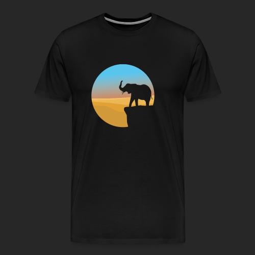 Sunset Elephant - Men's Premium T-Shirt