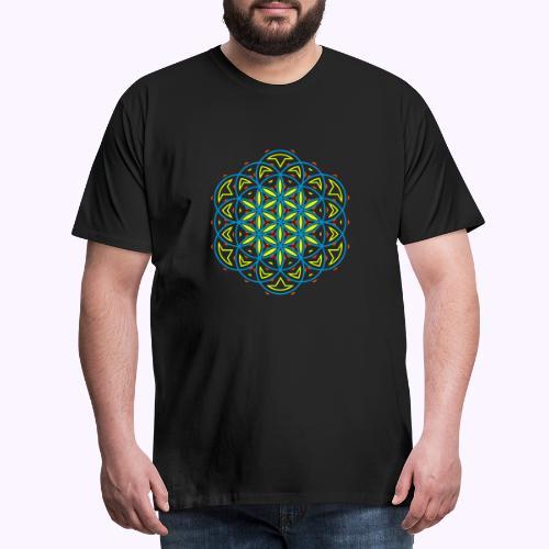 Flor 0f vida 3 - Camiseta premium hombre