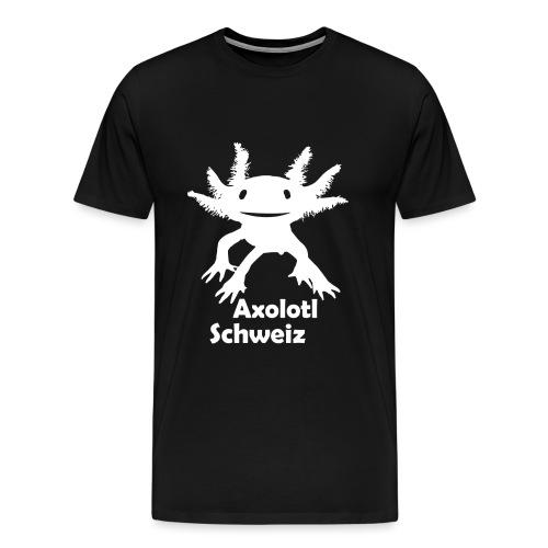 Axolotl weiss - Männer Premium T-Shirt