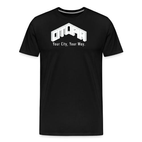 Logo with Slogan - Men's Premium T-Shirt