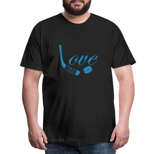 hockey love babyblue - Herre premium T-shirt