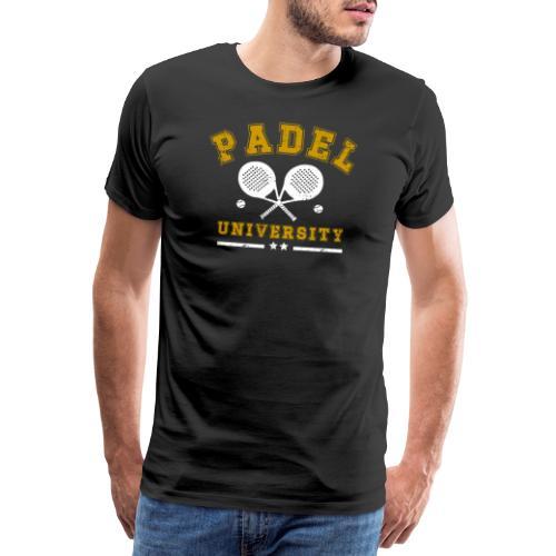 Padel University Vintage - Premium-T-shirt herr