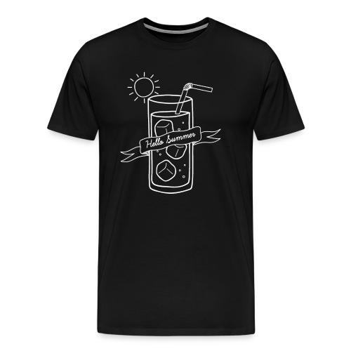 Hello Summer_White - T-shirt Premium Homme