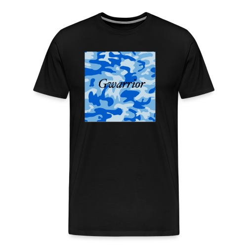 GWARRIOR BLUE CAMMO TSHIRT - Men's Premium T-Shirt