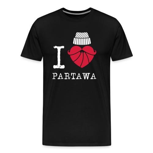 I love Partawa paita - Miesten premium t-paita