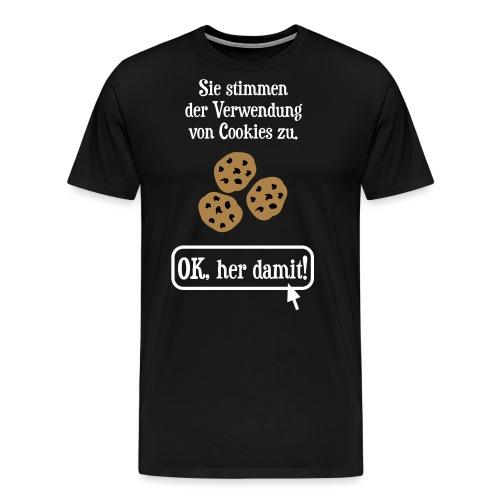 Cookie Hinweis Internet Nerd Spruch - Männer Premium T-Shirt