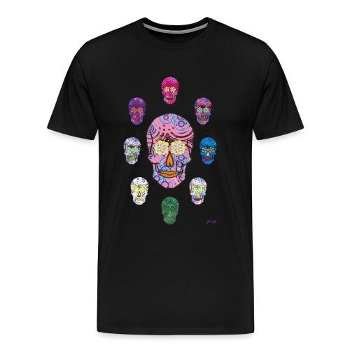 9 CALAVERAS - Camiseta premium hombre