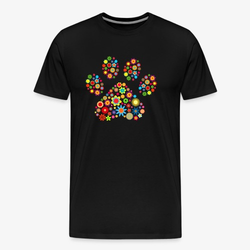 flower dog paw cat - Männer Premium T-Shirt