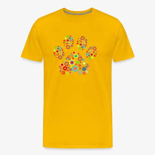 flower dog paw cat - Männer Premium T-Shirt