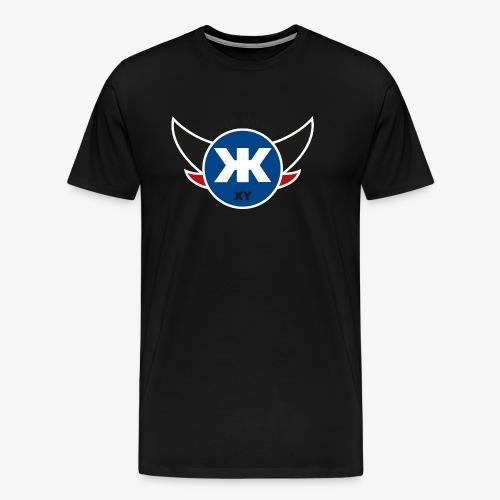 Logo KINGKONGXY Kreis - Männer Premium T-Shirt