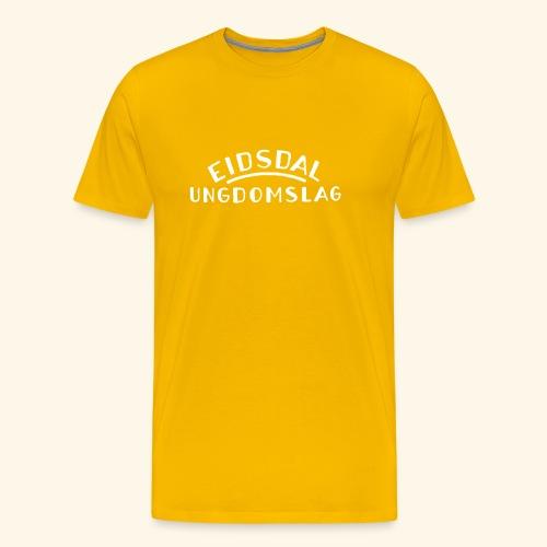 Logo Hvit skrift uten bak - Premium T-skjorte for menn