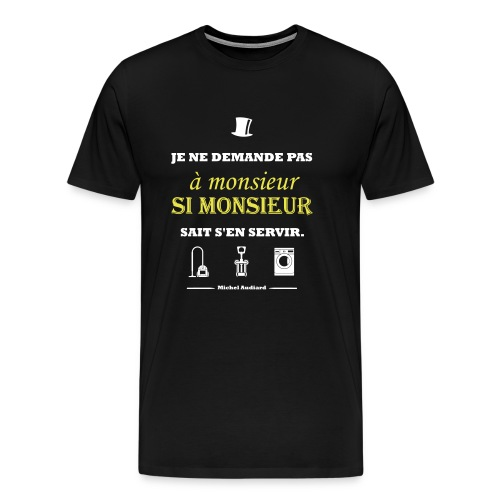 Citation Michel Audiard - T-shirt Premium Homme