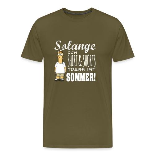 Sommer weiss - Männer Premium T-Shirt