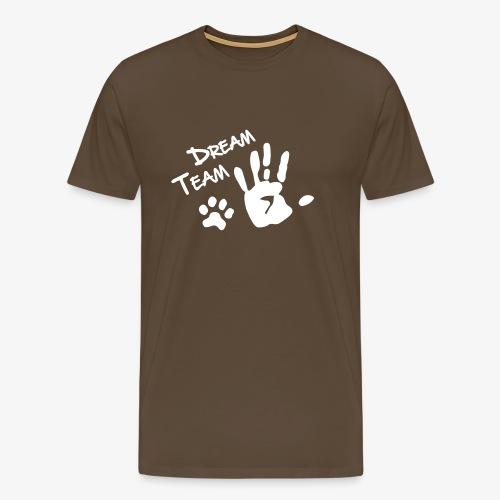 Dream Team Hand Hundpfote - Männer Premium T-Shirt