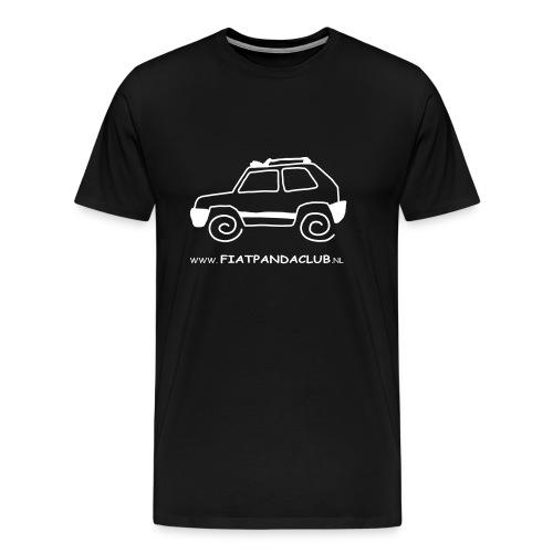 Panda logo wit transp - Mannen Premium T-shirt