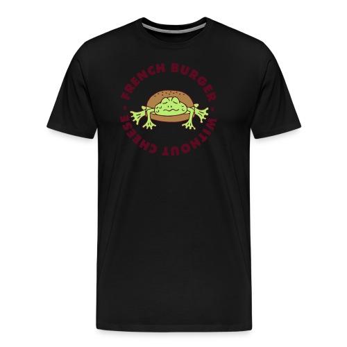 Froschburger French Burger Fastfood Frog ohne Käse - Männer Premium T-Shirt