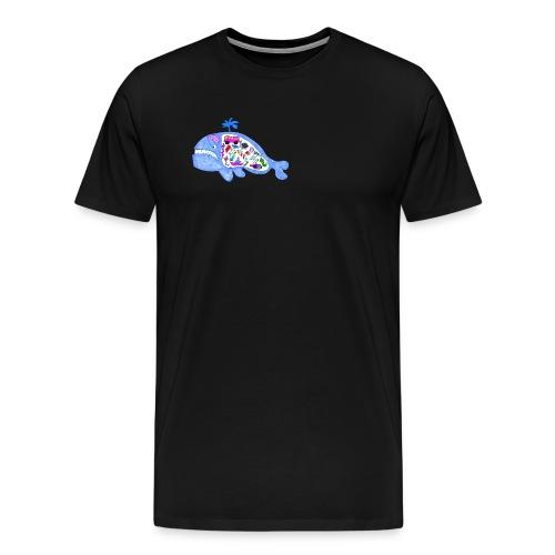 ballena de cosas recortado prueba - Camiseta premium hombre