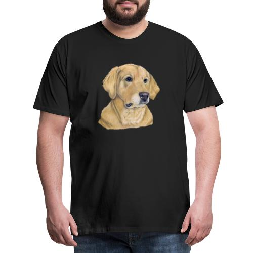 labrador yellow - pastel - Herre premium T-shirt