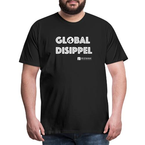 Global disippel - Premium T-skjorte for menn