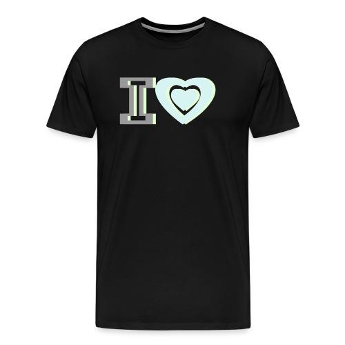 I LOVE I HEART - Men's Premium T-Shirt