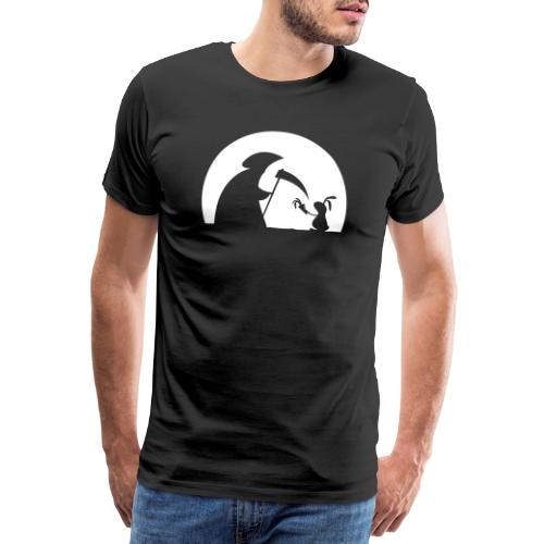 Hase Kaninchen Möhre Tod Sensenmann Karotte bunny - Männer Premium T-Shirt