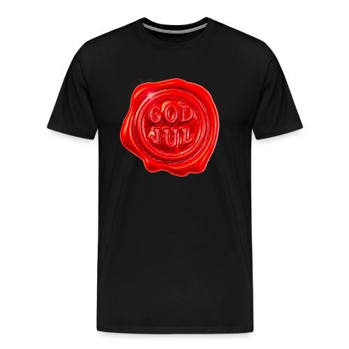 Rødt «god jul» lakksegl - detnorskeplagg.no - Premium T-skjorte for menn