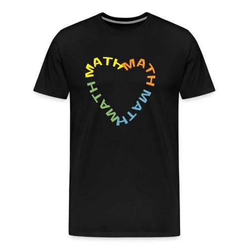Math Text Heart Light - Men's Premium T-Shirt