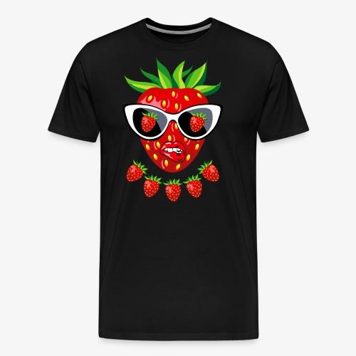 Süße Erdbeere Kussmund Sonnenbrille 23 - Männer Premium T-Shirt