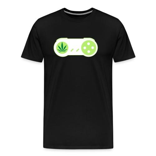 PLAY HiGH Retro Weed Gamer Controller - Men's Premium T-Shirt