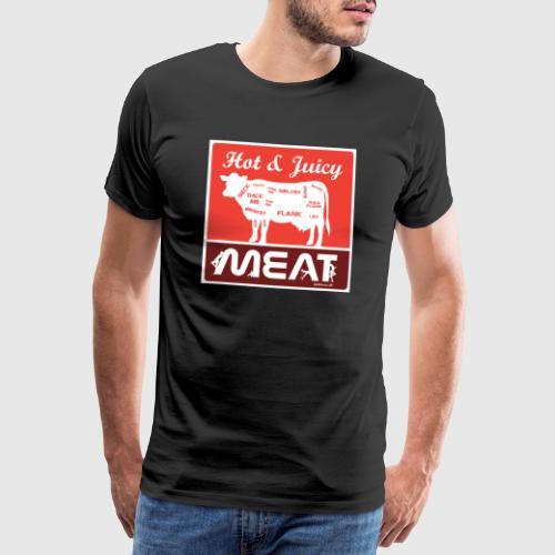 Hot & juicy meat - Herre premium T-shirt