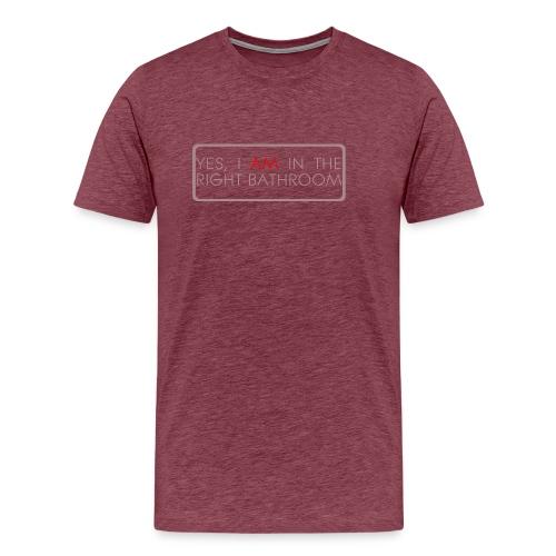 right_bathroom - Men's Premium T-Shirt