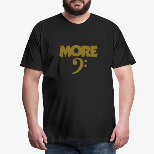 More Bass (Schlüssel) Weiß - Männer Premium T-Shirt