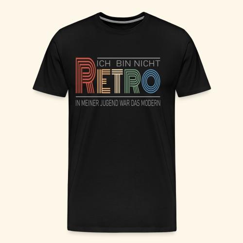 Ich bin nicht Retro Geschenk Geburtstag vintage - Männer Premium T-Shirt