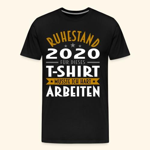 Ruhestand 2020 - Männer Premium T-Shirt